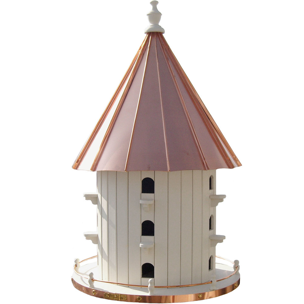 Amish 35ʺ Copper Top 15-Hole Birdhouse