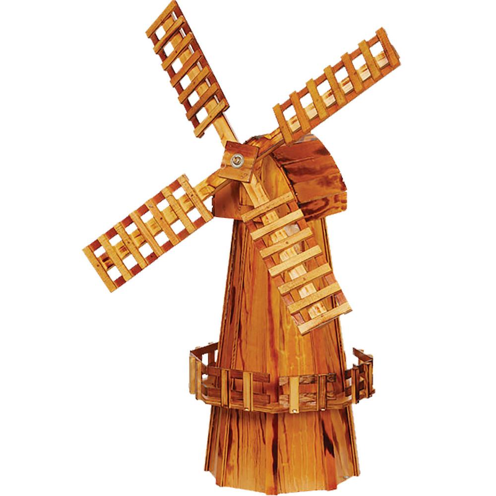 Amish 40ʺ Wooden Windmill