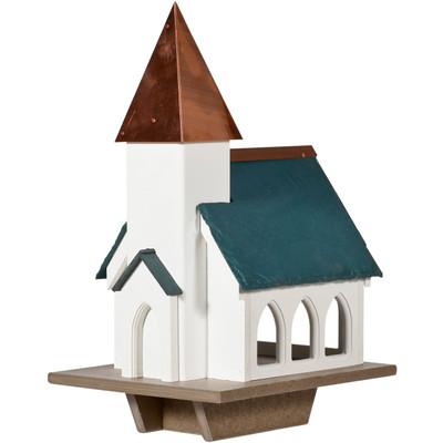 Amish Chapel Vinyl Bird Feeder