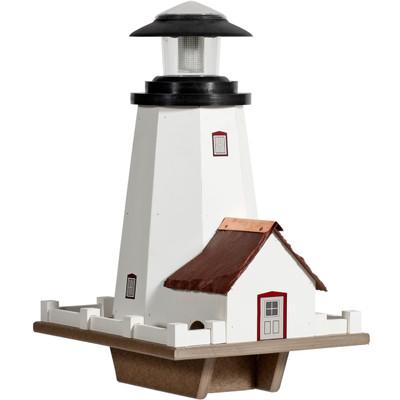 Amish Solar Lighthouse Vinyl Bird Feeder