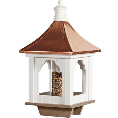 Amish Cupola Copper & Vinyl Bird Feeder