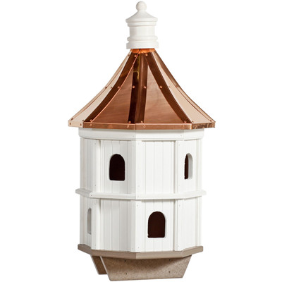 Amish Condo Copper & Vinyl Birdhouse