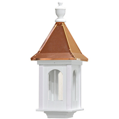 Amish Manor Large Copper & Vinyl Bird Feeder