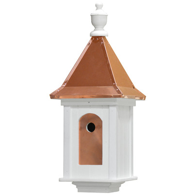 Amish Manor Large Copper & Vinyl Birdhouse