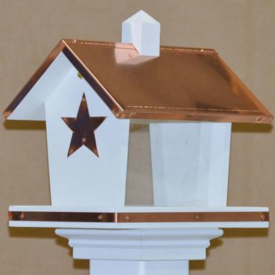 Amish Daystar Copper & Vinyl Bird Feeder