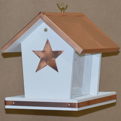 Amish Daystar Hanging Copper & Vinyl Bird Feeder