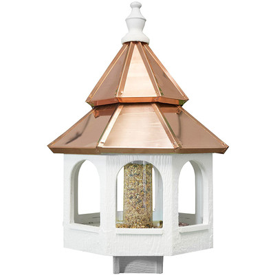 Amish 30ʺ Double Copper Top Bird Feeder