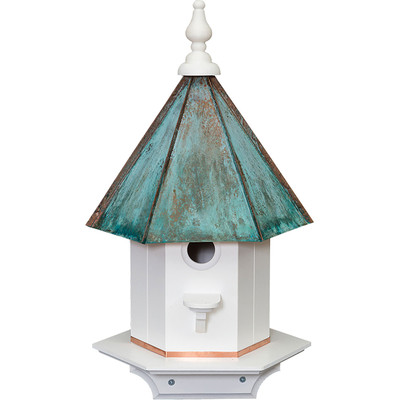 Amish 21ʺ Copper Top Poly Birdhouse