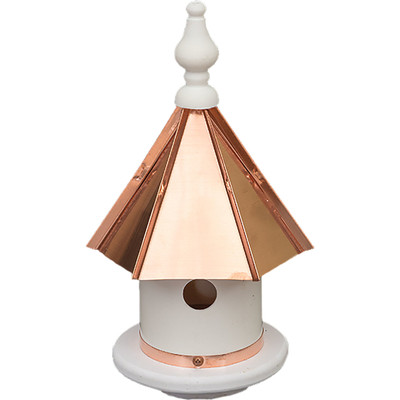 Amish 13ʺ Copper Top Poly Wren House