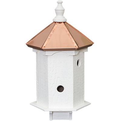 Amish 24ʺ Copper Top 4-Hole Bird House