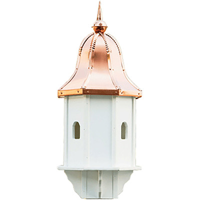 Amish Copper Bell Top 29ʺ Vinyl Birdhouse