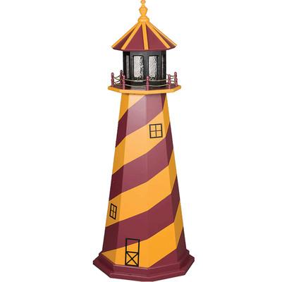 Washington Redskins Colors Wooden Lighthouse