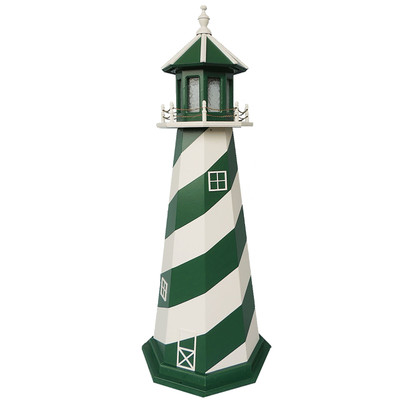 New York Jets Colors Wooden Lighthouse