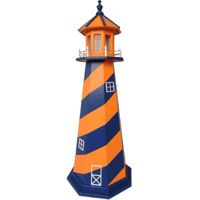 New York Mets Colors Wooden Lighthouse