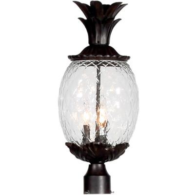 Lanai Glass & Bronze Pineapple Lantern