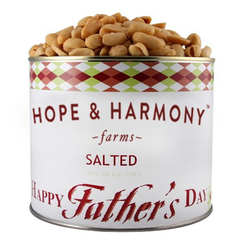 """Delicious Virginia peanuts hand roasted and lightly salted.  Let Dad know you are """"NUTS FOR HIM"""" by giving him the only the best. Wonderfully crunchy and fresh!"""