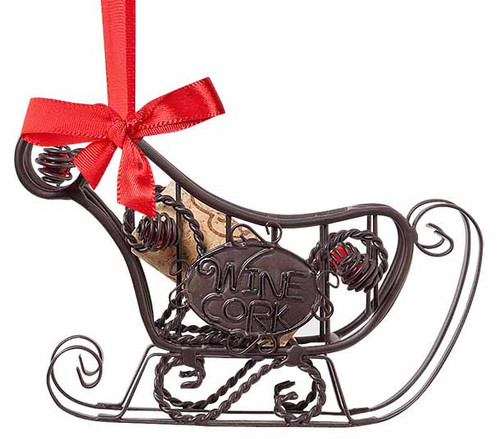 Cork Cage Sleigh Ornament