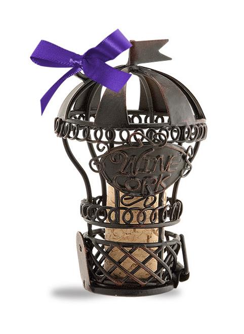 Hot Air Baloon Cork Cage Ornament