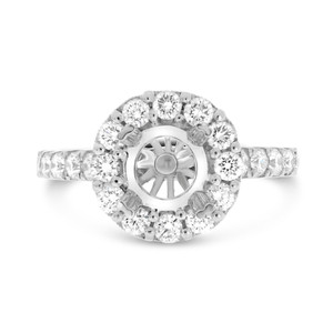 Double Prong Pave Engagement Setting