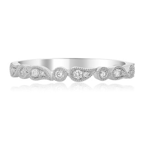 PAISLEY WHITE GOLD AND DIAMOND BAND