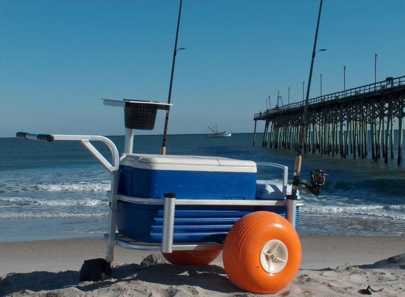 Fish n mate 303 jr beach cart w poly wheels for Lbi fishing charters