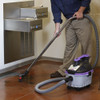 Use the squeegee insert and wand on the ProGuard to clean up water spills.
