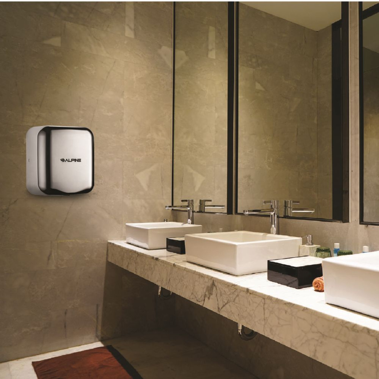 The Hemlock Hand Dryer comes in Chrome version.