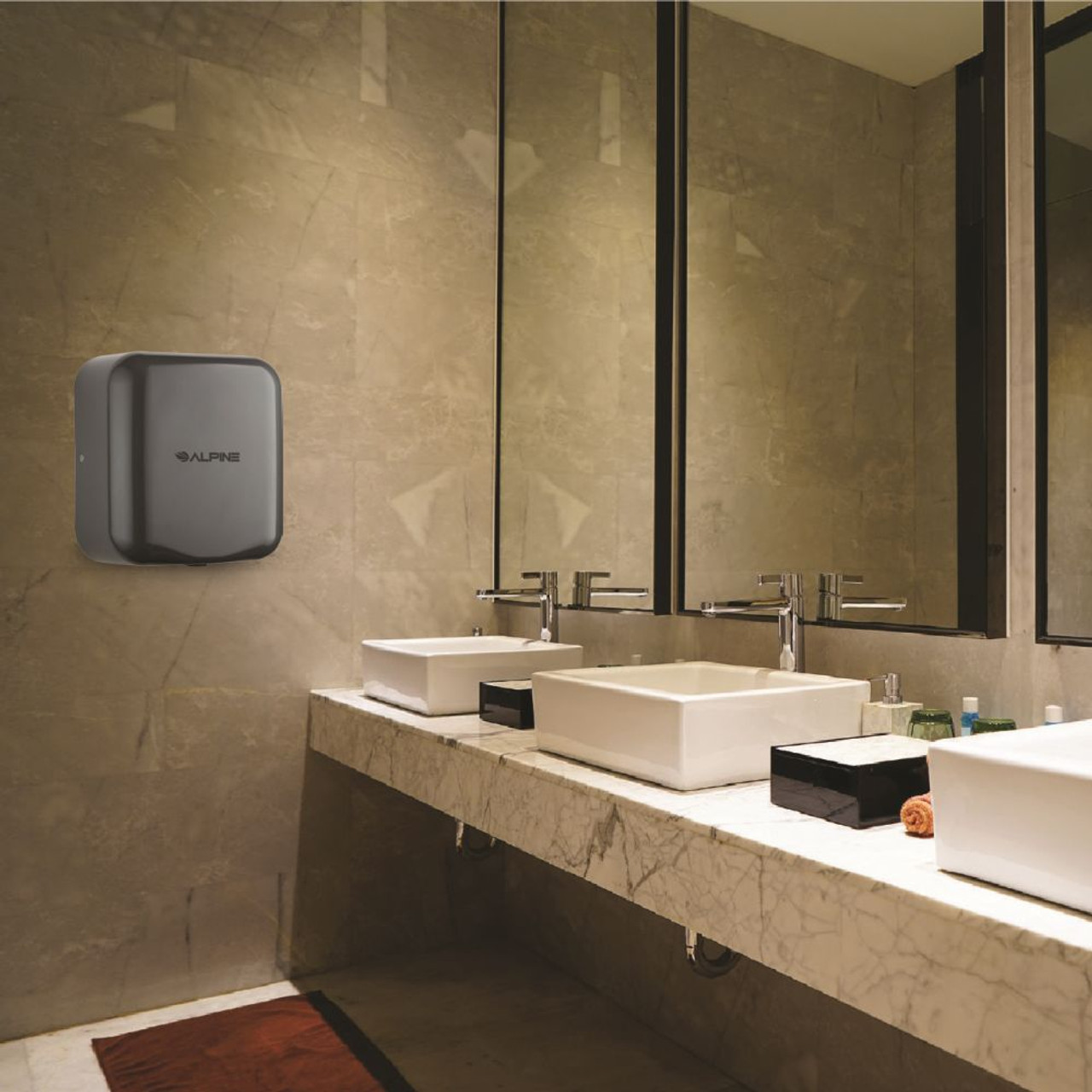 The Hemlock Hand Dryer comes in multiple colors such as Gray.