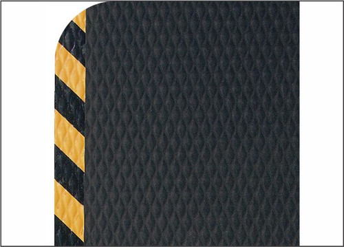 OSHA Yellow Striped Border for Safety.