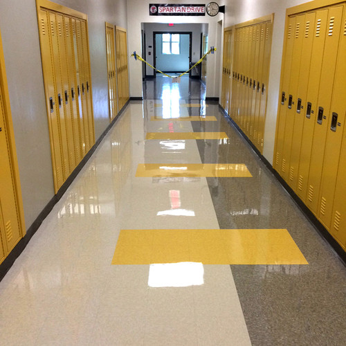 Super shiny floor beautifully finished with SchoolHouse Shine Floor Finish.