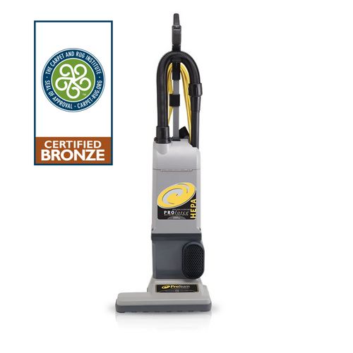 Provides exceptional cleaning in a high-filtration upright to improve reach, durability, and soil removal with HEPA filtration.