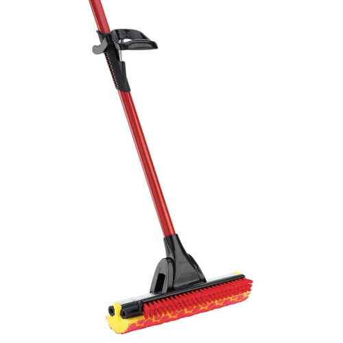"""The 955 Roller Mop has a tear resistant, synthetic sponge with raised cleaning circles and scrub brush with .75"""" long stiff bristles."""