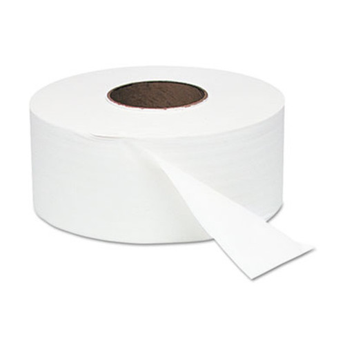 1,000 ft Junior Jumbo Toilet Paper rolls come in case of 12.