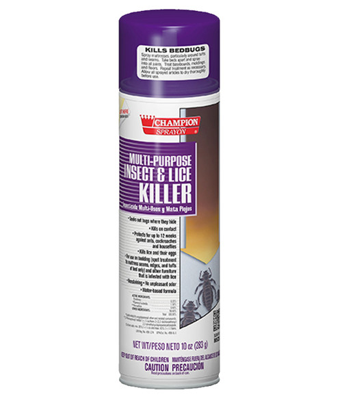 Champion Multi-Purpose Insect and Lice Killer Kills Bedbugs!
