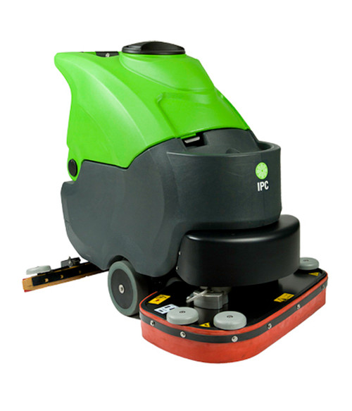 The CT70BT70 Traction drive automatic scrubber makes quick work of cleaning large areas.