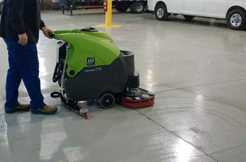 Auto Scrub Parking areas with the CT70.