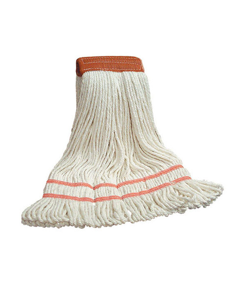 King of Mops Looped End Wet Mop - White