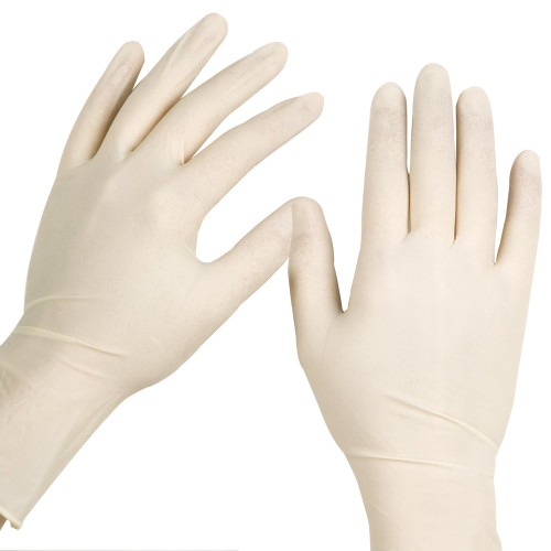 Disposable Latex Gloves are ambidextrous with beaded cuff and have a low protein content.