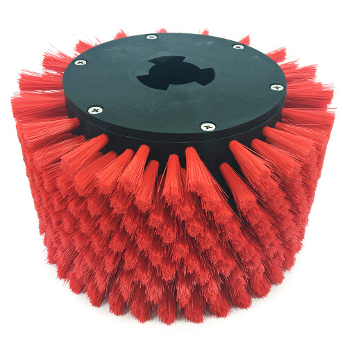 Baseboard brush is easily attached to MotorScrubber and pads attach to brush.