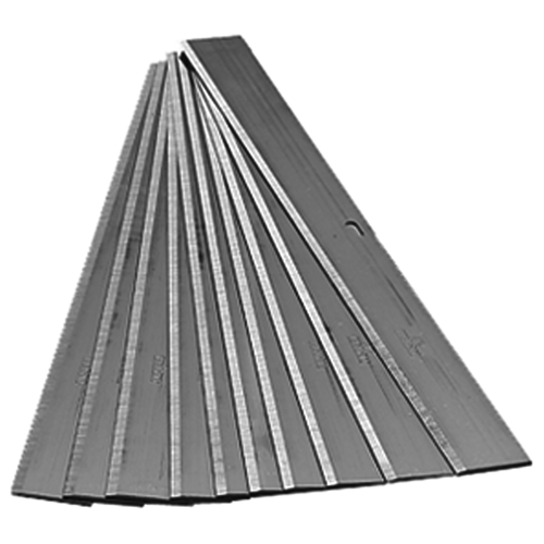 """These 8"""" replacement scraper blades are .036"""" carbon steel for long life."""