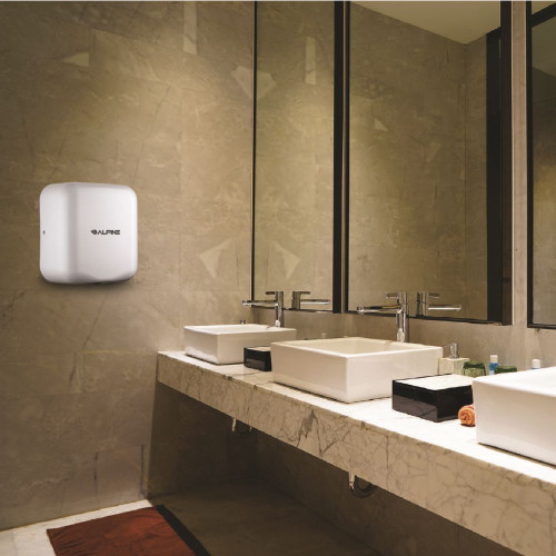 The Hemlock Automatic Hand Dryer Comes in multiple colors to fit any decor.