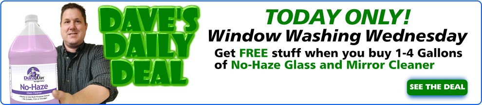 Daves Daily Deal - No Haze Glass Cleaner