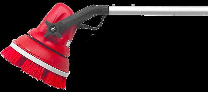 MotorScrubber head and handle