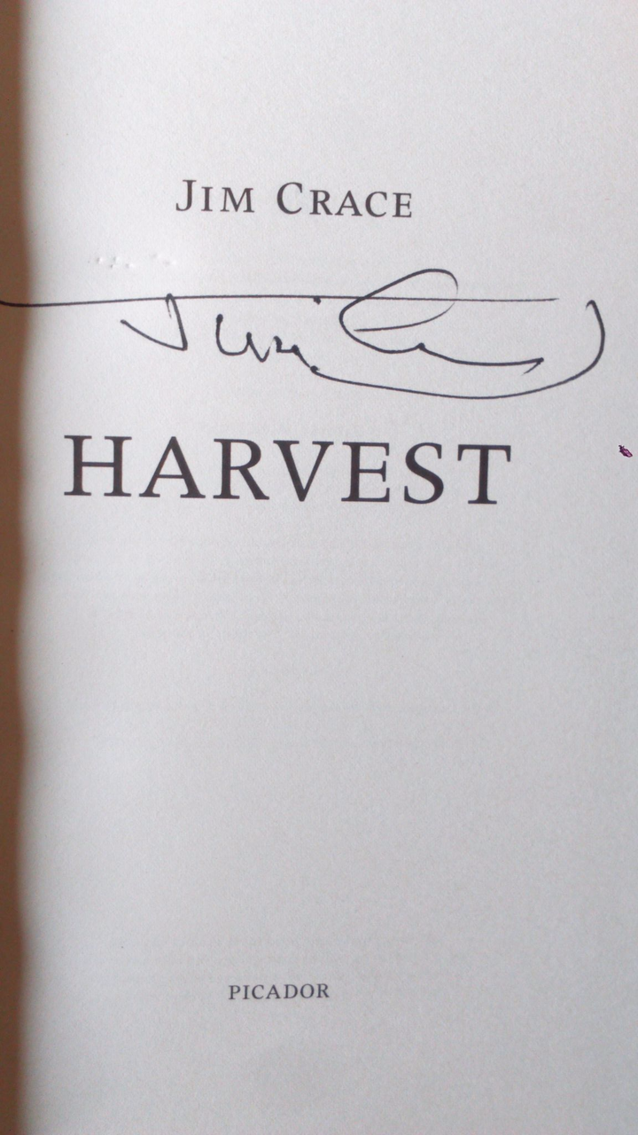 Crace, Jim - Harvest - SIGNED Hardcover 2013