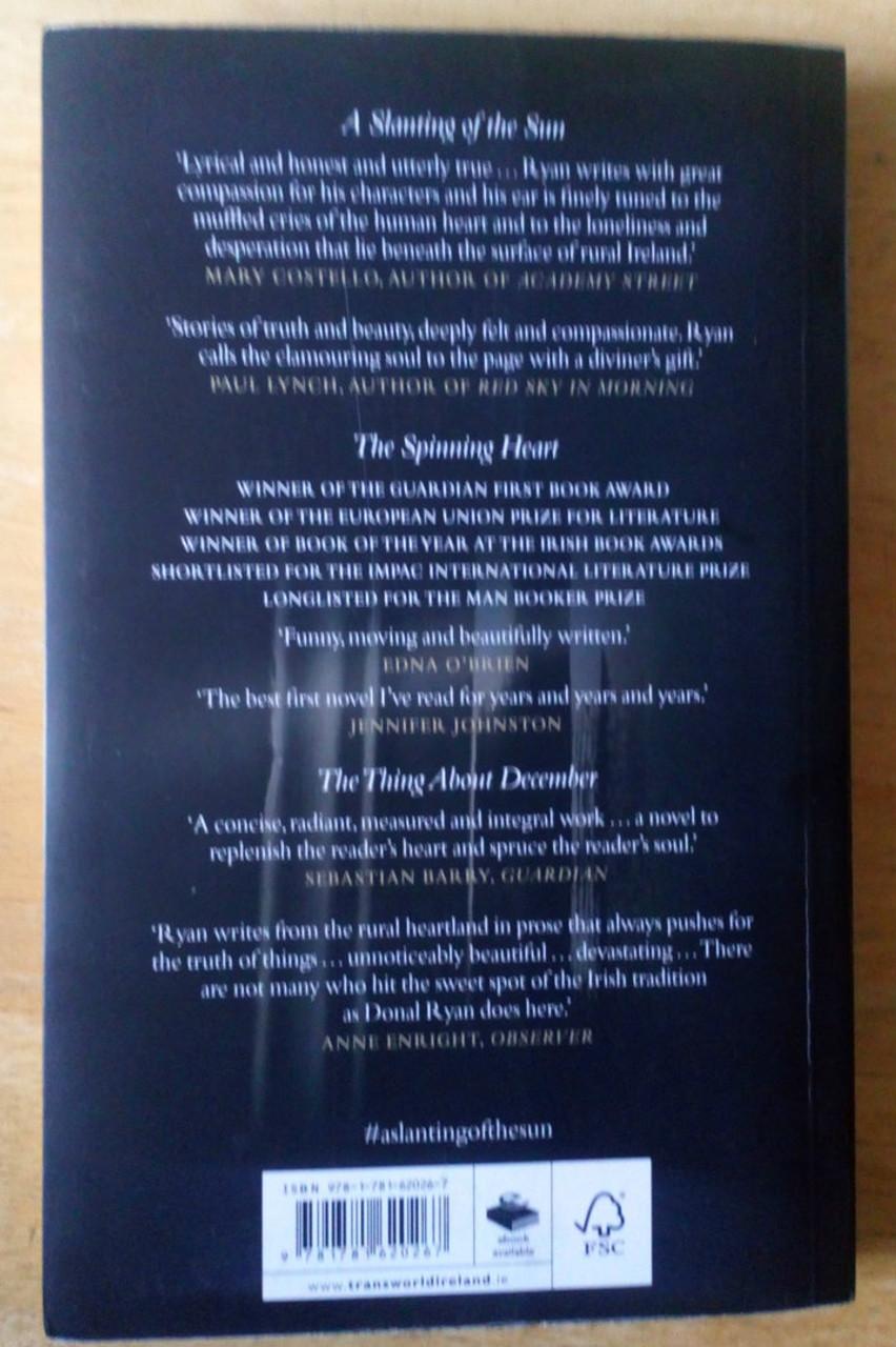 Ryan, Donál - A Slanting of the Sun - SIGNED - PB Short Stories 2015