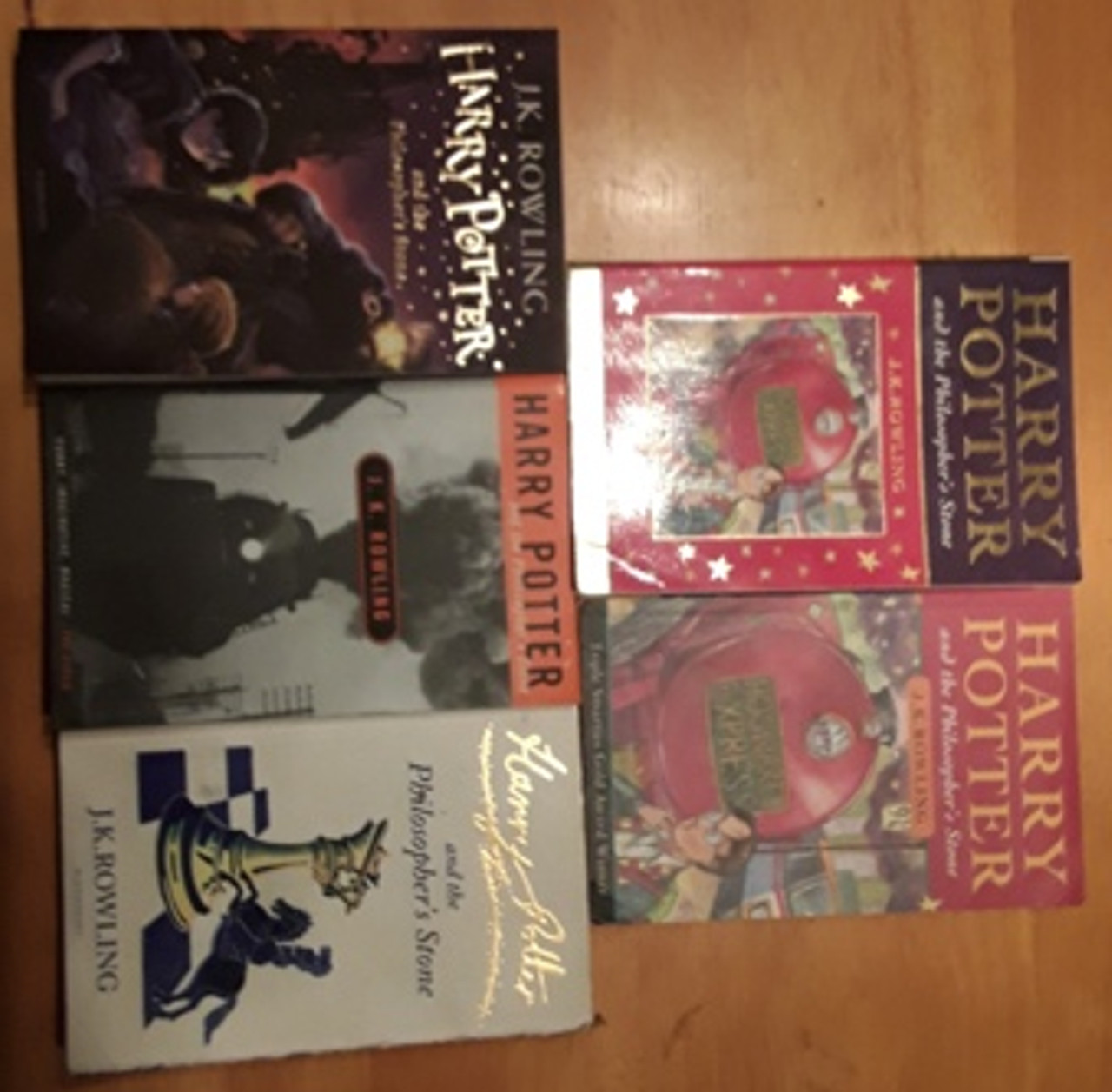 Harry Potter and the Philosopher's Stone (5 Book Cover Collection)