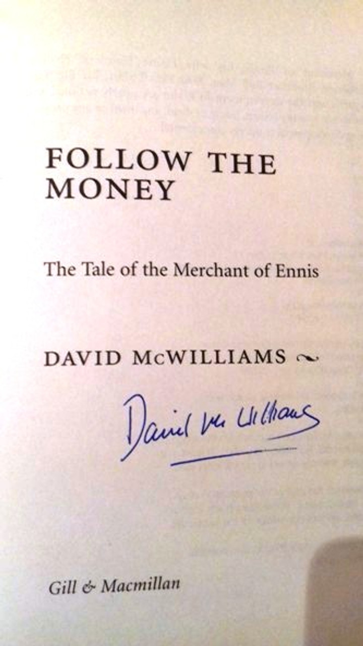 David Mcwilliams / Follow the Money (Large Paperback) (Signed by the Author)