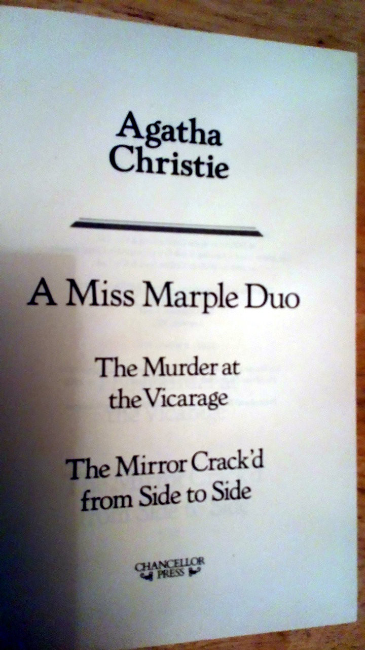 Christie, Agatha - 2 book Lot  : Murder at the Vicarage & The Mirror Crack'd from Side to Side ( Miss Marple) and Apointment with Death and other Plays