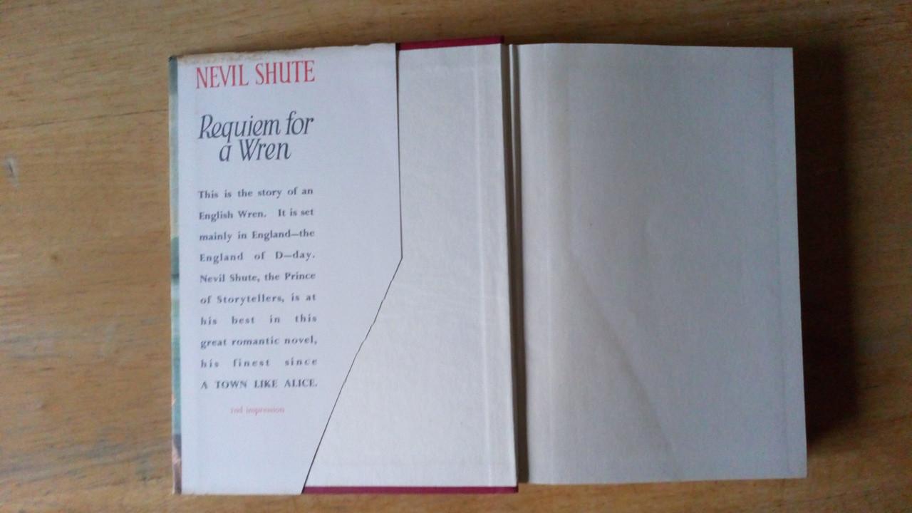Shute, Nevil - Requiem for a Wren - ( Breaking Wave) WW2 Novel - Vintage HB 1955