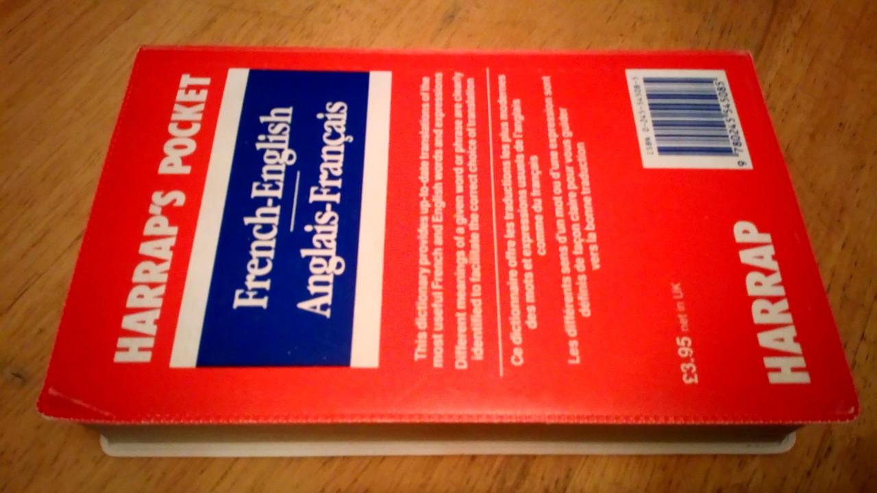 Harrap's French - English  & Anglais- Francais Pocket Dictionary